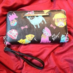 Betsey Johnson hipster pug wallet